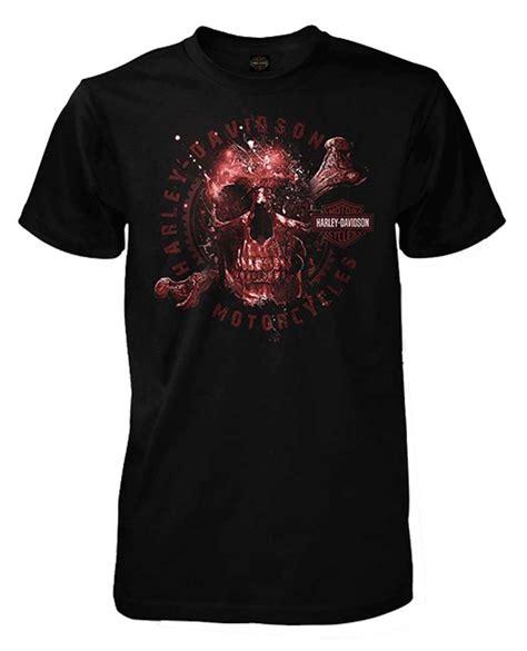 Harley Davidson Mens Lined Denim Sleeve Skull Shirt harley davidson s apparition skeleton skull sleeve t shirt black ebay