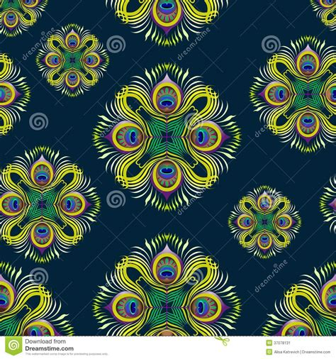 peacock pattern vector peacock feathers vector seamless pattern stock vector