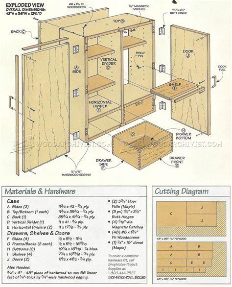 wall tool cabinet plans woodarchivist