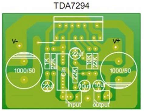 stereo 80watt audio power lifier tda7294 electronic
