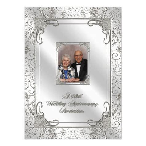 60th anniversary color 60th wedding anniversary photo invitation card 5 5 quot x 7 5