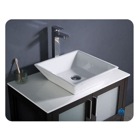 Modern Sinks For Bathroom Fresca Torino 30 Quot Espresso Modern Bathroom Vanity With Vessel Sink