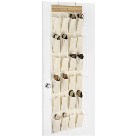 canvas shoe storage canvas and bamboo the door shoe organizer in the