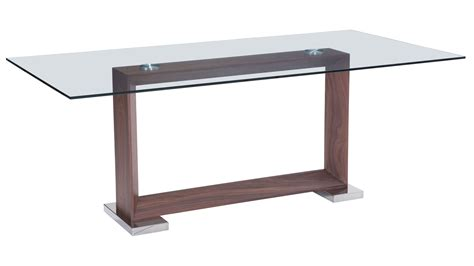 glass and walnut dining table modern osmond glass dining table walnut zuri furniture