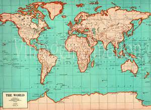 original map antique large world map 1941 original 1940s map of the world