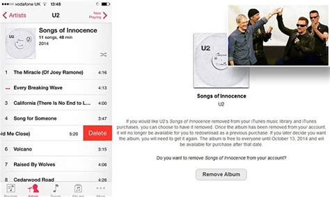 bbc news apple releases u2 album removal tool apple lets users remove u2 album songs of innocence in one