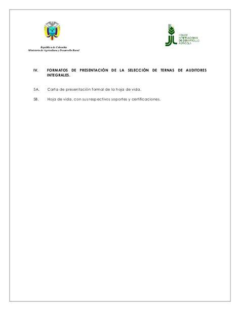 presentacion hoja de vida 2016 formato presentaci 243 n de hojas de vida auditores