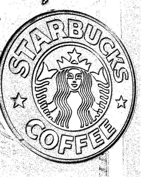 coloring page of starbucks starbucks cup logo coloring pictures to pin on pinterest