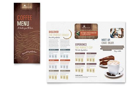 design coffee shop menu layout coffee shop menu template design