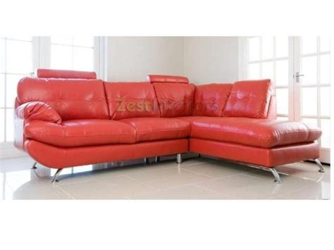 Verona Leather Sofa Verona Right Large Corner Faux Leather Sofa W Headrest