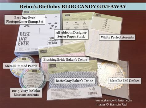 Blog Candy Giveaway - happy birthday and a blog candy giveaway stamp with brian