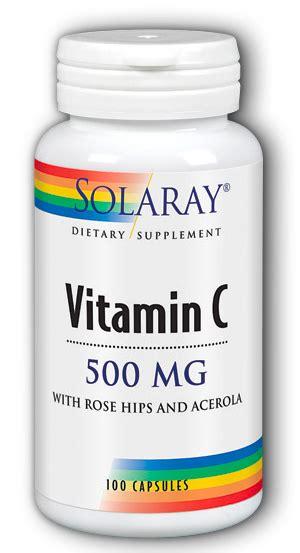 Acerola C Mengandung 100 Mg Vitamin C vitamin c 500 mg with hips and acerola capsule 100 caps