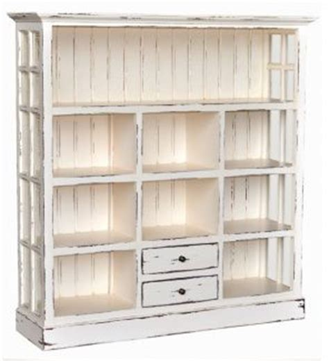 white distressed bookcase painted furniture