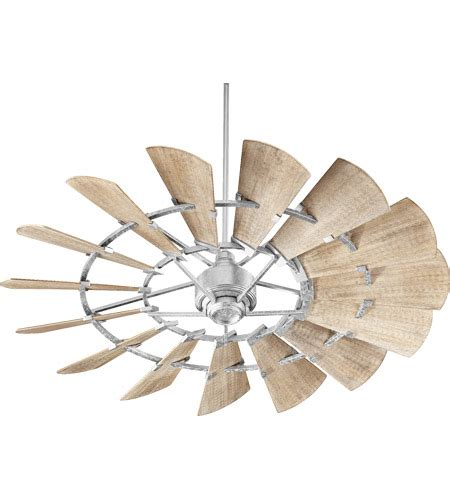 9 blade ceiling fan quorum 96015 9 windmill 60 inch galvanized with weathered