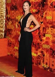 Katharine Mcphee Wardrobe by Katharine Mcphee Goes Braless In Daring Black Jumpsuit For