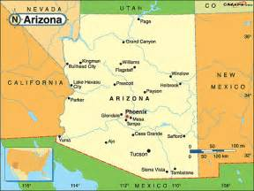 south arizona map arizona political map by maps from maps world s