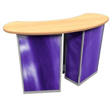 stand alone desk linear reception desk counter linear trade show counter
