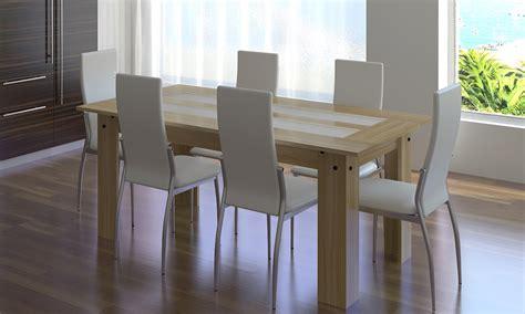 Salle ã Manger En Chã âªne Massif Chaise Table A Cuir Table De Lit