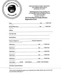 Free printable family reunion letters first letter registration form
