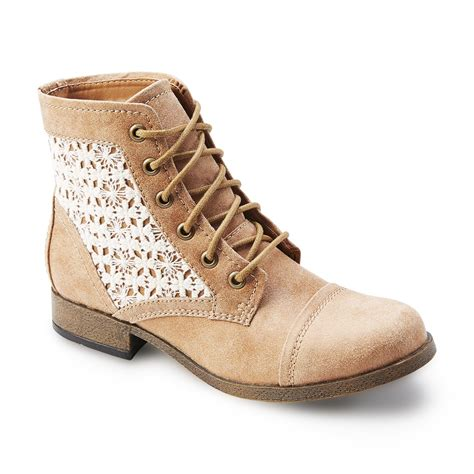 kmart boots s lace combat boot top fashion boots are at kmart