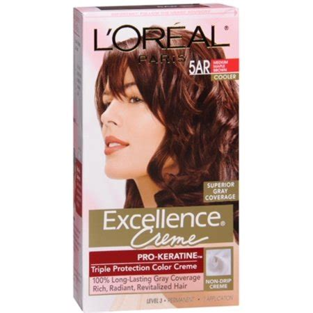 l oreal excellence creme hair color 5ar medium maple brown best deals with price l oreal excellence creme 5ar velvet brown medium maple brown 1 each pack of 2 walmart