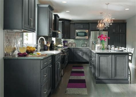 grey stained cabinets like the lighter grey 2nd but the flat drawer profile of the 3rd decora cabinet colors mf cabinets