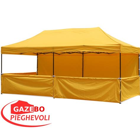 gazebo pieghevoli prezzi gazebo pieghevole 6x3 metri alluminio pvc
