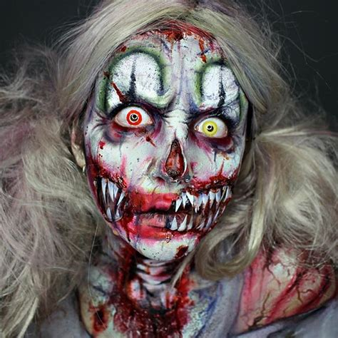 zombie clown tutorial 12 best monster makeup fx contacts images on pinterest