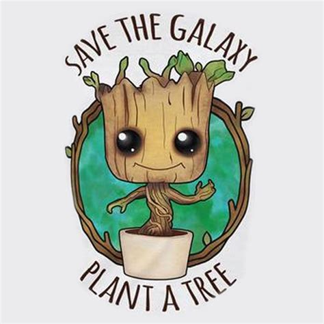 save a save the galaxy plant a tree baby groot mens tshirt