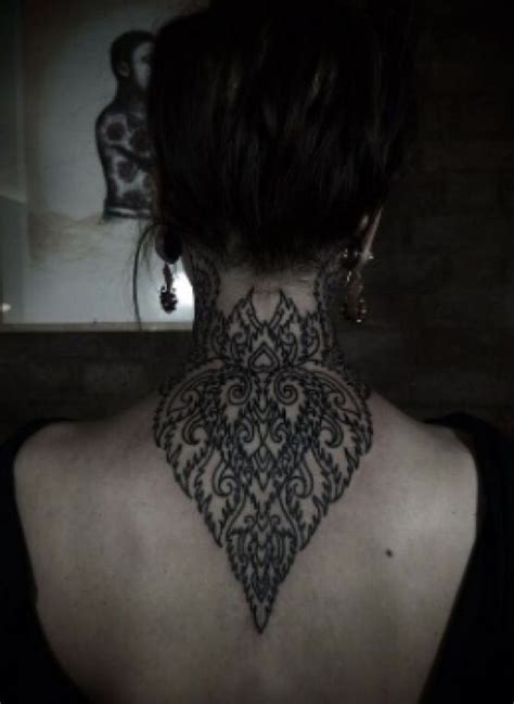 beautiful rose on neck tattoo design idea for men and women