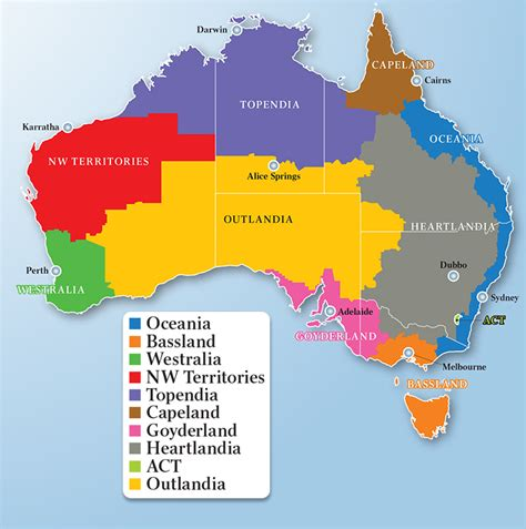 states in australia map australia reinvented a nation divided according to its
