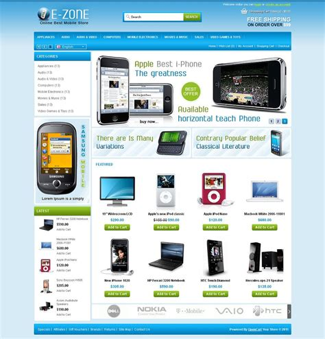 mobile themes opencart opc040090 premium opencart mobile shop theme