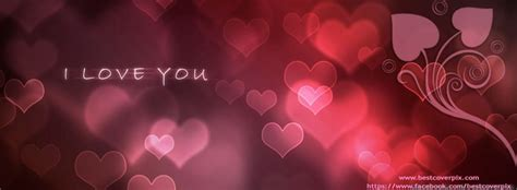 stylish heart facebook timeline cover i love you fb covers