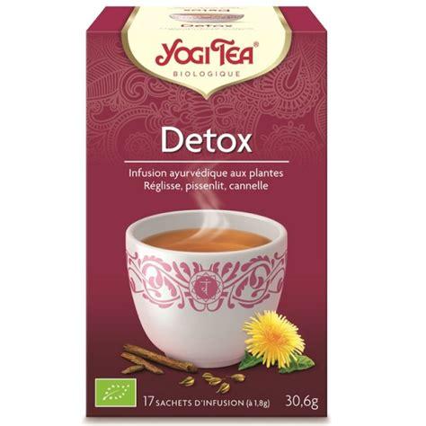 Throat Detox by Infusion D 233 Tox Purifica Bio 17 Sachets Yogi Tea