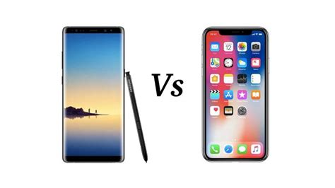 X Samsung Note by Iphone X Vs Note 8 Tech Advisor