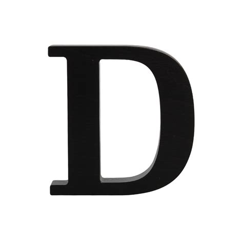 Wooden letter D, black