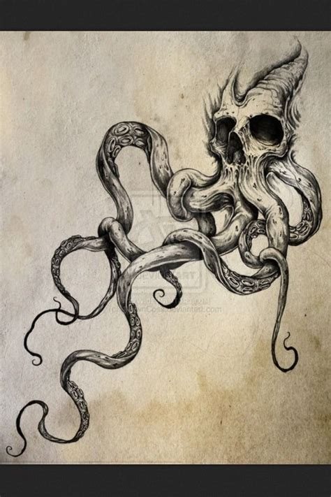 skull octopus tattoo best 20 kraken ideas on