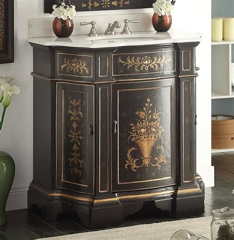 hand painted bathroom cabinets adelina 36 inch antique hand painted vintage black finish