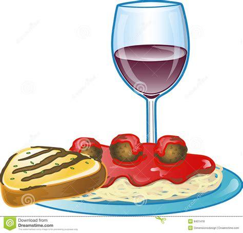 clipart cena italian spaghetti dinner stock illustration image of