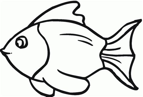 Black And White Fish Clip Art Cliparts Co Goldfish Coloring Pages