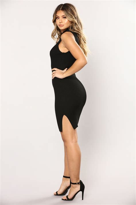 Nyla Dress 1 nyla knit dress black