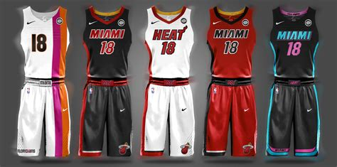 jersey design miami heat hopefully nike s new miami heat uniforms as sleek as these