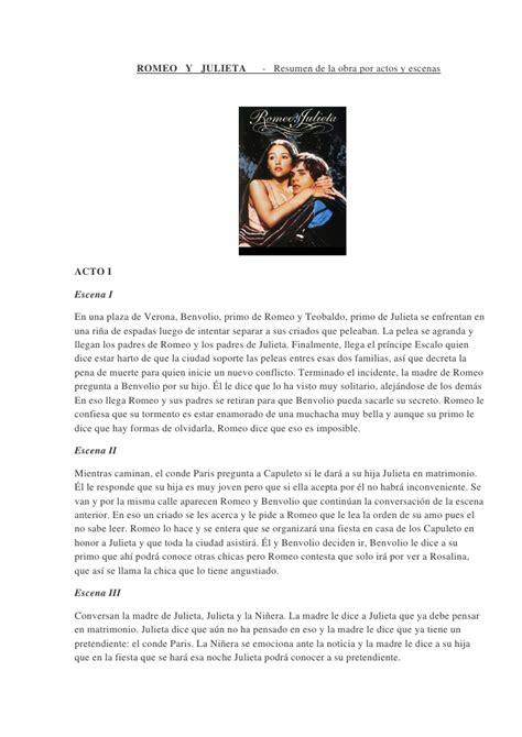 leer el libro completo de romeo y julieta romeo y juelita resumen por actos