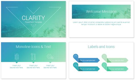 powerpoint templats clarity powerpoint template presentationdeck