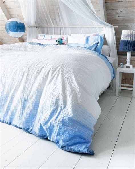 blue ombre bedding diy dip dye duvet cover bedding ombre zelfmaakidee