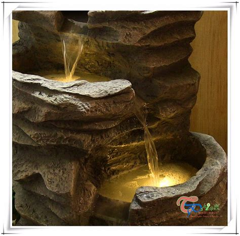 Lighted Outdoor Water Fountains Lighted Led Cascade Outdoor Rock Water Waterfall Garden View Led Rock Lights In Garden