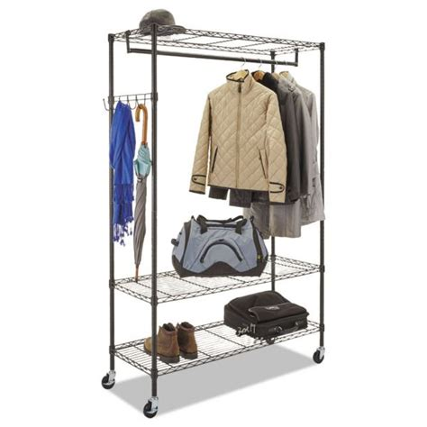 alera wire shelving garment rack officesupply