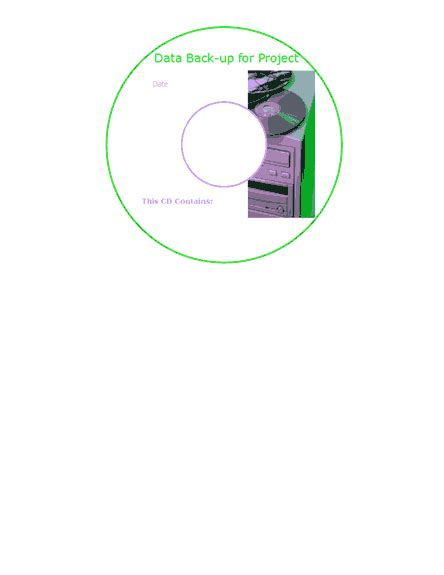 Data Back Up Cd Or Dvd Face Labels Avery 8942 Template Word