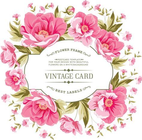 imagenes tarjetas retro dise 241 o de flores de tarjeta vintage descargar vectores