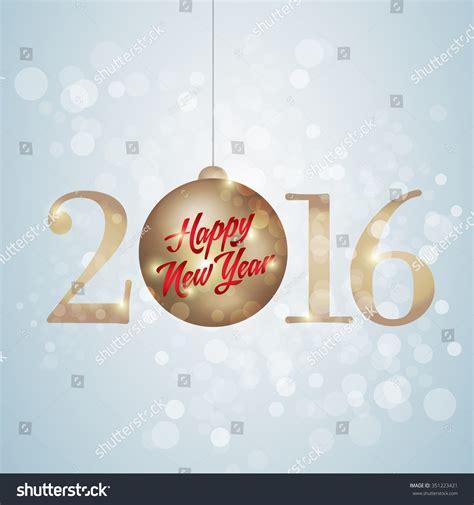 new year ribbon 2016 happy new year lettering ribbon stock vector